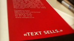 Text sells!