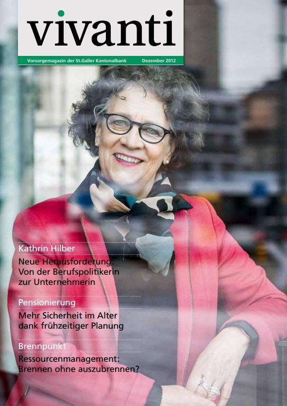 Vivanti Kundenmagazin der St.Galler Kantonalbank